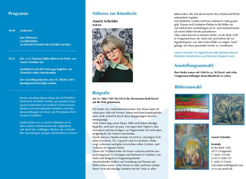 Flyer Einladung zur Kunstausstellung von AnneLiSchröder 2015 2_2