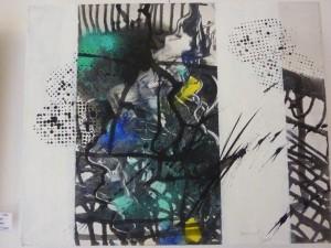Abstraktion 2 Tusche und Acral