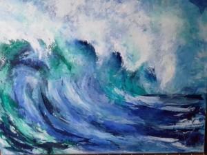 Große Welle Acryl