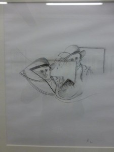Mann mit Hur Zeichnung