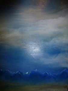 Wolkenspiele Über den Bergen Acryl