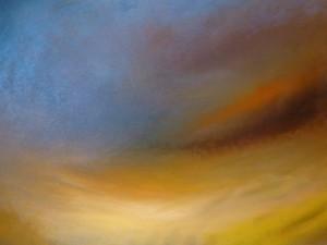 Wolkenspiele Sonnenuntergang Öl