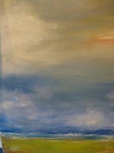 Wolkenspiele am Meer Acryl
